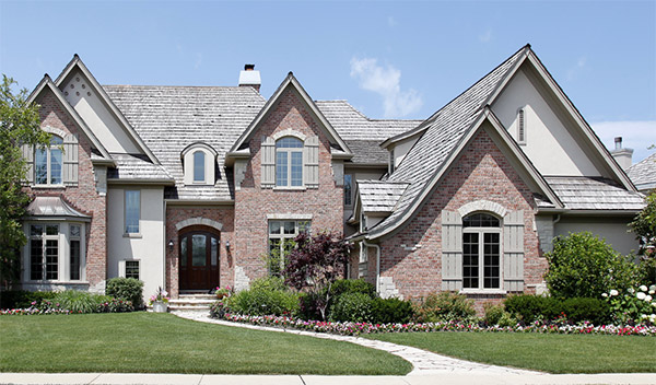 Brick Home Above It All Roofing And Construction Inc