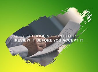 Your Roofing Contract: Review It Before You Accept It